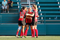 Rochester, NY - Friday June 24, 2016: Western New York Flash celebration during a regular season National Women's Soccer League (NWSL) match between the Western New York Flash and the Boston Breakers at Rochester Rhinos Stadium.