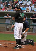 August 30, 2003:  Jarrod Schmidt of the Dayton Dragons during a game at Fifth Third Field in Dayton, Ohio.  Photo by:  Mike Janes/Four Seam Images