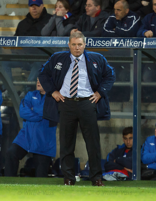 Ally McCoist not happy