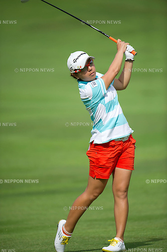 Mika Miyazato (JPN),.MARCH 3, 2013 - Golf :.Mika Miyazato of Japan in action during the final round of the the HSBC Women's Champions golf tournament at Sentosa Golf Club in Singapore. (Photo by Haruhiko Otsuka/AFLO)
