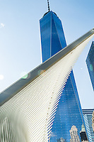 Santiago Calatrava's World Trade Center Transportation Hub in lower Manhattan. New York, New York