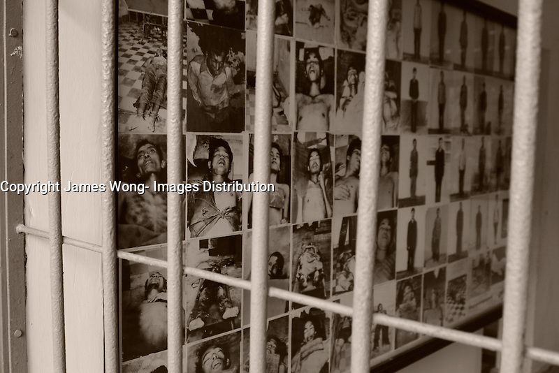 Phnom Penh,Cambodia - 2007 File Photo -<br /> <br /> victims pictures before being murdered.  at Tuol Sleng, former Khmer Rouge S-21 prison<br /> <br /> The Tuol Sleng Genocide Museum is a museum in Phnom Penh, capital of Cambodia. The site is a former high school which was used as the notorious Security Prison 21 (S-21) by the Khmer Rouge regime from its rise to power in 1975 to its fall in 1979. Tuol Sleng in Khmer means &quot;Hill of the Poisonous Trees&quot; or &quot;Strychnine Hill&quot;.<br /> <br /> photo : James Wong-  Images Distribution