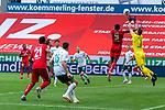 Jean-Philippe Mateta (FSV Mainz 05 #09), Jiri Pavlenka (Werder Bremen #01), Maximilian Eggestein (Werder Bremen #35), Karim Onisiwo (FSV Mainz 05 #21), Milos Veljkovic (Werder Bremen #13), Joshua Sargent (Werder Bremen #19) Marco Friedl (Werder Bremen #32)<br /> <br /> <br /> Sport: nphgm001: Fussball: 1. Bundesliga: Saison 19/20: 33. Spieltag: 1. FSV Mainz 05 vs SV Werder Bremen 20.06.2020<br /> <br /> Foto: gumzmedia/nordphoto/POOL <br /> <br /> DFL regulations prohibit any use of photographs as image sequences and/or quasi-video.<br /> EDITORIAL USE ONLY<br /> National and international News-Agencies OUT.