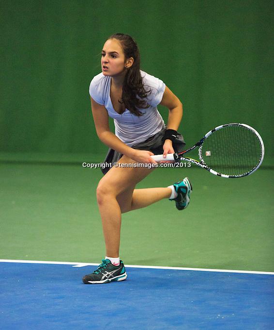 01-12-13,Netherlands, Almere,  National Tennis Center, Tennis, Winter Youth Circuit, Phillis Vanenburg  <br /> Photo: Henk Koster