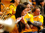 21 January 2010: Members of the University of Vermont Fighting Catamount Band, the official pep band for the University of Vermont Athletic teams, play during a game against the Stony Brook University Seawolves at Patrick Gymnasium in Burlington, Vermont. The Catamounts fell to the Seawolves 65-60 in the America East matchup. Mandatory Credit: Ed Wolfstein Photo