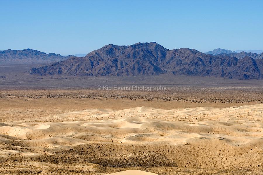 Barren landscape of the Mojave Desert, California.