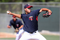 Minnesota Twins pitcher Angel Mata #53 during an Instructional League game against the New York Mets at Lee County Sports Complex on October 4, 2011 in Fort Myers, Florida.  (Mike Janes/Four Seam Images)