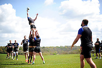 The Bath Rugby forwards practise their lineout. Bath Rugby training session on May 3, 2016 at Farleigh House in Bath, England. Photo by: Patrick Khachfe / Onside Images