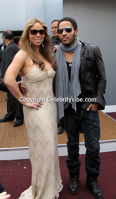 Mariah Carey and Lenny Kravitz..Mariah Carey and Lenny Kravitz promoting their Movie Precious leaving an Interview with Canal I..2009 Cannes Film Festival..Cannes, France..Friday, May 15, 2009..Photo By Celebrityvibe.com.To license this image please call (212) 410 5354; or Email: celebrityvibe@gmail.com ; .website: www.celebrityvibe.com.