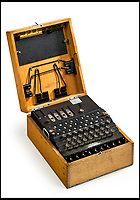 BNPS.co.uk (01202 558833)<br /> Pic: Bonhams/BNPS<br /> <br /> Two incredibly rare Enigma machines the Germans used to baffle the British with in the Second World War have emerged for sale for &pound;350,000.<br /> <br /> The ingenious devices were used by German army and navy commanders to transmit coded messages without the Allies listening in and finding out.<br /> <br /> Now two three rotor and four rotor machines have been consigned for auction in London for &pound;150,000 and &pound;200,000 respectively.