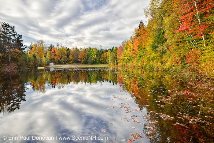 Twin Mountain Town Park in the White Mountains, New Hampshire USA during  the autumn season.