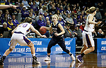 SIOUX FALLS, SD - MARCH 19: Rylee Kane #25 from Montana State University Billings looks to make a move against Maddie Dackin #20 from Ashland during their quarterfinal game at the 2018 Elite Eight Women's NCAA DII Basketball Championship at the Sanford Pentagon in Sioux Falls, SD. (Photo by Dave Eggen/Inertia)