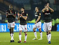 Bolton Wanderers' Sammy Ameobi, Jason Lowe and Christian Doidge applaud the travelling fans at the end of the match <br /> <br /> Photographer Andrew Kearns/CameraSport<br /> <br /> The EFL Sky Bet Championship - Sheffield Wednesday v Bolton Wanderers - Tuesday 27th November 2018 - Hillsborough - Sheffield<br /> <br /> World Copyright &copy; 2018 CameraSport. All rights reserved. 43 Linden Ave. Countesthorpe. Leicester. England. LE8 5PG - Tel: +44 (0) 116 277 4147 - admin@camerasport.com - www.camerasport.com