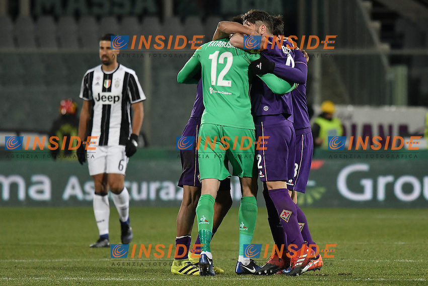 Esultanza Fiorentina. fiorentina players celebrate at the end of the match <br /> Firenze 15-01-2017 Stadio Artemio Franchi Football Campionato Serie A 2016/2017 <br /> Fiorentina - Juventus <br /> Foto Andrea Staccioli / Insidefoto