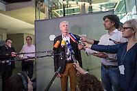 25. Sitzung des Abgas-Untersuchungsausschuss des Deutschen Bundestag am Donnerstag den 16. Februar 2017.<br /> Als Zeuge war u.a. der Minsterpraesident von Niedersachsen, Stephan Weil (SPD) geladen.<br /> Im Bild: Der Ausschussvorsitzende Herbert Behrens (Linkspartei) bei seinem Pressestatement nach der Vernehmung des Ministerpraesidenten.<br /> 16.2.2017, Berlin<br /> Copyright: Christian-Ditsch.de<br /> [Inhaltsveraendernde Manipulation des Fotos nur nach ausdruecklicher Genehmigung des Fotografen. Vereinbarungen ueber Abtretung von Persoenlichkeitsrechten/Model Release der abgebildeten Person/Personen liegen nicht vor. NO MODEL RELEASE! Nur fuer Redaktionelle Zwecke. Don't publish without copyright Christian-Ditsch.de, Veroeffentlichung nur mit Fotografennennung, sowie gegen Honorar, MwSt. und Beleg. Konto: I N G - D i B a, IBAN DE58500105175400192269, BIC INGDDEFFXXX, Kontakt: post@christian-ditsch.de<br /> Bei der Bearbeitung der Dateiinformationen darf die Urheberkennzeichnung in den EXIF- und  IPTC-Daten nicht entfernt werden, diese sind in digitalen Medien nach §95c UrhG rechtlich geschuetzt. Der Urhebervermerk wird gemaess §13 UrhG verlangt.]