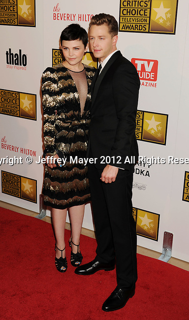 BEVERLY HILLS, CA - JUNE 18: Ginnifer Goodwin and Josh Dallas arrives at The Critics' Choice Television Awards at The Beverly Hilton Hotel on June 18, 2012 in Beverly Hills, California.