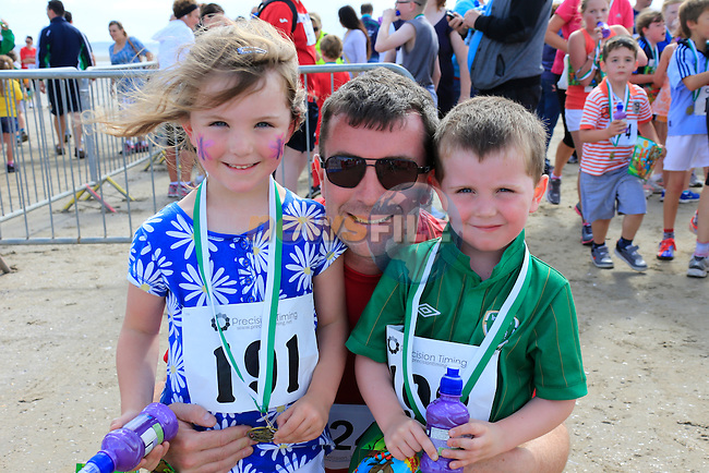 Bronagh Ciaran Pat Grant<br /> at the Golden Sands 5k Fun Day on Bettystown beach.<br /> Picture www.newsfile.ie