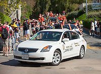 Campus Safety leads the Homecoming car parade, Oct. 28, 2011. (Photo by Marc Campos, Occidental College Photographer)