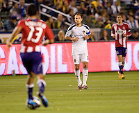 LA Galaxy forward Landon Donovan is surrounded by Chivas USA players. The LA Galaxy defeated Chivas USA 2-0 during the Super Clasico at Home Depot Center stadium in Carson, California Thursday evening April 1, 2010.  .