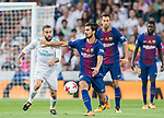 Andre Filipe Tavares Gomes (r) of FC Barcelona competes for the ball with Daniel Carvajal Ramos of Real Madrid during their Supercopa de Espana Final 2nd Leg match between Real Madrid and FC Barcelona at the Estadio Santiago Bernabeu on 16 August 2017 in Madrid, Spain. Photo by Diego Gonzalez Souto / Power Sport Images