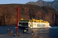 Spanien, Kanarische Inseln, Gran Canaria, Puerto de las Nieves, Fähre