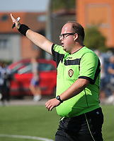 20190914– MECHELEN , BELGIUM : Referee is pictured during the U16s Elite League match between KV Mechelen and Oud Heverlee Leuven on Saturday 14th 2019 at the KV Mechelen Youth Complex in Mechelen , Belgium. PHOTO SPORTPIX.BE | Sevil Oktem