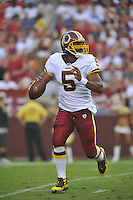 21 August 2010:  Redskins QB Donovan McNabb (5) rolls out..The Baltimore Ravens defeated the Washington Redskins 23-3 during their preseason game 'The Battle of the Beltway' at FedEx Field in Landover, MD.