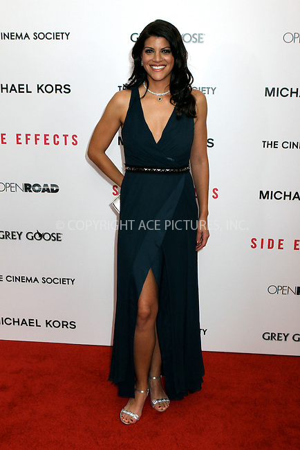 WWW.ACEPIXS.COM....January 31 2013, New York City........Sheila Tapia arriving at the premiere of 'Side Effects' at AMC Lincoln Square Theater on January 31, 2013 in New York City....By Line: Nancy Rivera/ACE Pictures......ACE Pictures, Inc...tel: 646 769 0430..Email: info@acepixs.com..www.acepixs.com