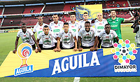 CÚCUTA- COLOMBIA, 03-08-2019:Formación del Once Caldas ante el Cúcuta Deportivo.Acción de juego entre los equipos Cúcuta Deportivo  y el Once Caldas  durante partido por la fecha 4 de la Liga Águila II  2019 jugado en el estadio General Santander de la ciudad de Cúcuta . / Team of Once Caldas agaisnt of Cucuta Deportivo.Action game between  Cucuta Deportivo and Once Caldas  during the match for the date 4 of the Liga Aguila II 2019 played at the General Santander  stadium in Cucuta  city. Photo: VizzorImage / Manuel Hernández  / Contribuidor