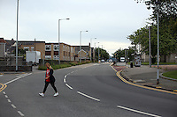 Pictured: The empty St Helen's Road in Swansea, which is usually busy with traffic during rush hour Wednesday 06 July 2016<br />