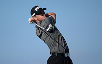 Tom Lewis of England tees off during Round 2 of the 2015 Alfred Dunhill Links Championship at the Old Course, St Andrews, in Fife, Scotland on 2/10/15.<br /> Picture: Richard Martin-Roberts | Golffile