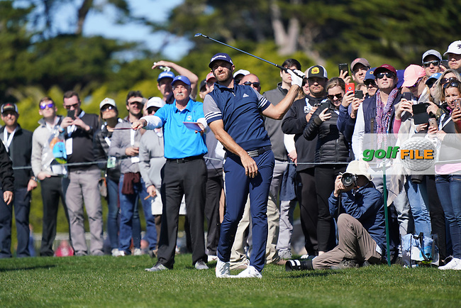 Dustin Johnson (USA) during the final round of the AT&T Pro-Am, Pebble Beach, Monterey, California, USA. 08/02/2020<br /> Picture: Golffile | Phil Inglis<br /> <br /> <br /> All photo usage must carry mandatory copyright credit (© Golffile | Phil Inglis)