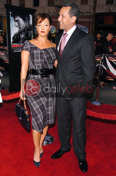 """Leah Remini and Angelo Pagan<br />at the screening of """"Mission: Impossible III"""". Grauman's Chinese Theatre, Hollywood, CA. 05-04-06<br />Scott Kirkland/DailyCeleb.com 818-249-4998"""