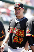 May 25, 2009:  Designated Hitter Justin Huber of the Rochester Red Wings, International League Triple-A affiliate of the Minnesota Twins, during a game at Frontier Field in Rochester, NY.  Photo by:  Mike Janes/Four Seam Images