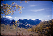 View of the Mt. Sneffels Range of the San Juan Mountains from the Ridgway / Dallas Divide area.<br /> Dallas Divide (area), CO