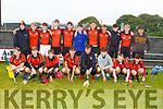 The Ballyheigue U16 team against Abbeydorney in the County U16 Hurling Championship in Kilmoyley on Friday evening.