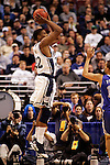 Connecticut forward Rudy Gay (22) attempts a shot.  Connecticut defeated Kentucky 87-83 in the second round of the NCAA Tournament  at the Wachovia Center in Philadelphia, Pennsylvania on March 19, 2006.