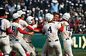 Chiben Gakuen team group, MARCH 31, 2016 - Baseball : The players of Chiben Gakuen celebrates after winning the Japanese High School Baseball Invitational Tournament final match Takamatsu Commercial 1-2 Chiben Gakuen at Hanshin Koshien Stadium in Nishinomiya, Hyogo, Japan. (Photo by BFP/AFLO)