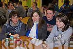 Students from Causeway Comprehensive School John Lyons, Marlia O'Dwyer, Niall Carlin and Rachel Hussey pictured at the Kerry Science Teachers Association Junior Cert Science Quiz at IT Tralee south campus on Wednesday the 25th March.