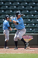Nick Dini (16) of the Wilmington Blue Rocks at bat against the Winston-Salem Dash at BB&T Ballpark on June 5, 2016 in Winston-Salem, North Carolina.  The Dash defeated the Blue Rocks 4-0.  (Brian Westerholt/Four Seam Images)