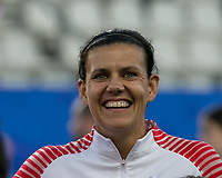 GRENOBLE, FRANCE - JUNE 15: Christine Sinclair #12 of the Canadian National Team during a game between New Zealand and Canada at Stade des Alpes on June 15, 2019 in Grenoble, France.