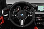 Car pictures of steering wheel view of a 2017 BMW X6 M-sportpakket 5 Door SUV Steering Wheel
