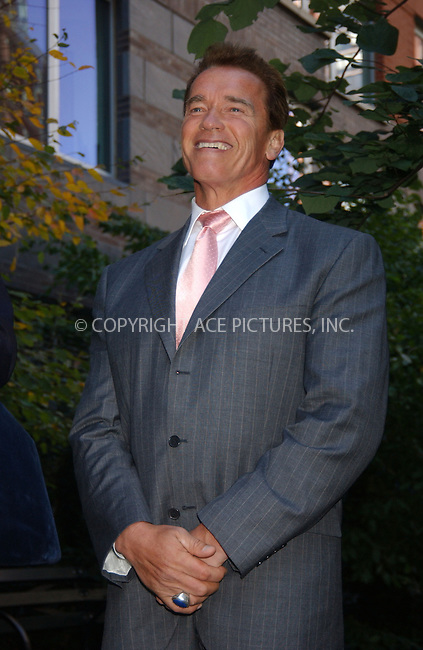 WWW.ACEPIXS.COM . . . . . ....October 16 2006, New York City....New York Governor George Pataki and California Governor Arnold Schwarzenegger held a press conference in the courtyard of the Solaire Building, the largest residential green building in the USA  to discuss ways of reducing global warming and implementing the greenhouse gas emissions trading system. ....Please byline: KRISTIN CALLAHAN - ACEPIXS.COM.. . . . . . ..Ace Pictures, Inc:  ..(212) 243-8787 or (646) 769 0430..e-mail: info@acepixs.com..web: http://www.acepixs.com