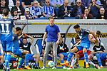 In der Bildmitte Hoffenheims Trainer Julian Nagelsmann  beim Spiel in der Fussball Bundesliga, TSG 1899 Hoffenheim - Hamburger SV.<br /> <br /> Foto &copy; PIX-Sportfotos *** Foto ist honorarpflichtig! *** Auf Anfrage in hoeherer Qualitaet/Aufloesung. Belegexemplar erbeten. Veroeffentlichung ausschliesslich fuer journalistisch-publizistische Zwecke. For editorial use only.