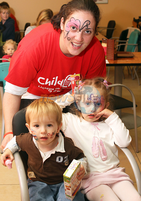Benjamin Lynch, Sonia Cole and Emily Taylor at the Breakfast Morning with Mumstown.ie in Conjunction with ISPCC, Childline and Cheerios...Picture Jenny Matthews/Newsfile.ie