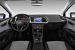 Stock photo of straight dashboard view of 2017 Seat Leon Style 5 Door Hatchback Dashboard