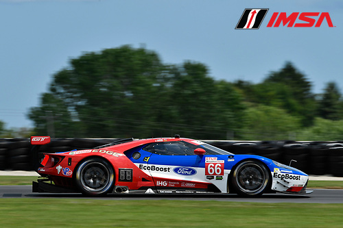IMSA WeatherTech SportsCar Championship<br /> Continental Tire Road Race Showcase<br /> Road America, Elkhart Lake, WI USA<br /> Saturday 5 August 2017<br /> 66, Ford, Ford GT, GTLM, Joey Hand, Dirk Muller<br /> World Copyright: Richard Dole<br /> LAT Images