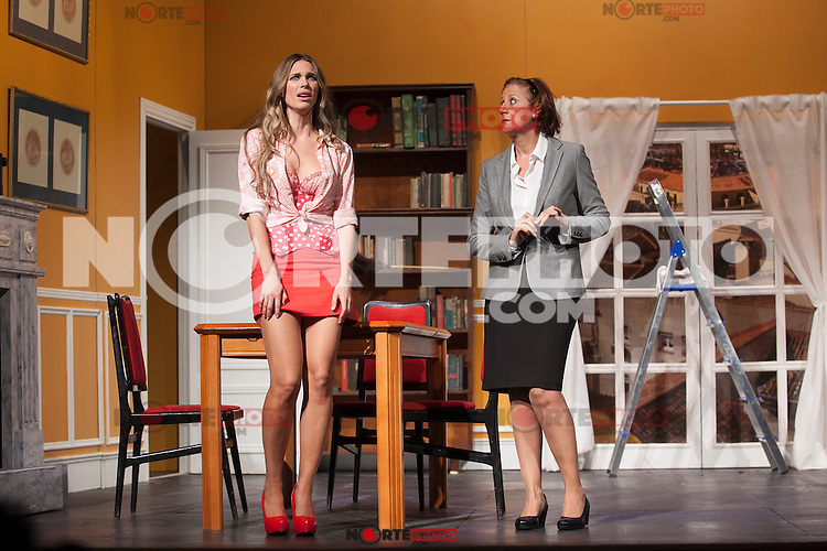 Actresses Vanesa Romero and Esperanza Elipein perform `El Clan de las Divorciadas´ theater play in Madrid, Spain. August 19, 2015. (ALTERPHOTOS/Victor Blanco)
