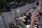 Warsaw, Poland, 20/07/2017:<br /> Anti-Pis government protesters standing by the Sejm, Polish parliament are reacting after the bill to chenge the way of electing the Supreme Court judges, which  curbs rule of law in Poland has been passed.<br /> Photo by Piotr Malecki /  Napo Images<br /> <br /> Warszawa, 20/07/2017<br /> Protestujacy pod sejmem reaguja na informacje o tym ze ustawa zmieniajaca sposob wybierania sedziow Sadow Najwyzszego zostalo uchwalone.<br /> Fot: Piotr Malkecki / Napo Images