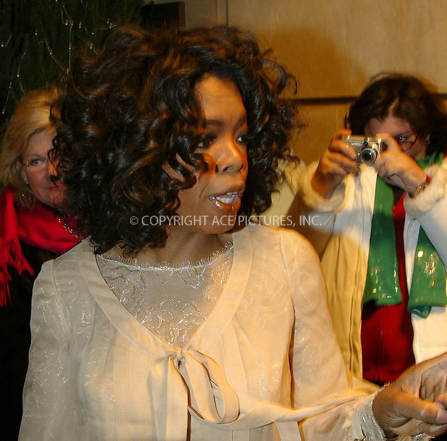 WWW.ACEPIXS.COM . . . . .  ....NEW YORK, DECEMBER 5, 2004....Oprah Winfrey seen leaving her hotel to present a Lifetime Achievement Award to John Travolta at the Waldorf Astoria.....Please byline: Ian Wingfield - ACE PICTURES..... *** ***..Ace Pictures, Inc:  ..Alecsey Boldeskul (646) 267-6913 ..Philip Vaughan (646) 769-0430..e-mail: info@acepixs.com..web: http://www.acepixs.com